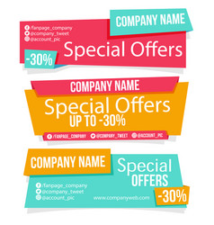 Banner special offers image vector