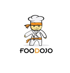 Cartoon karate food chef vector