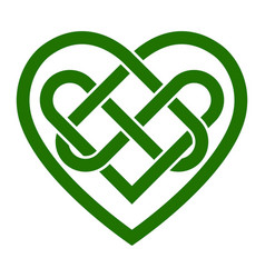 Celtic knot heart vector