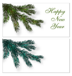 christmas new year postcards business cards vector image