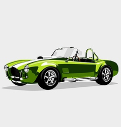 Classic sport green car AC Shelby Cobra Roadster vector image