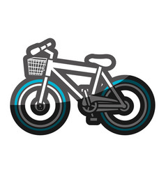 Color silhouette with sport bike with basket and vector
