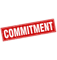 Commitment square stamp vector