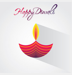 Creative happy diwali greeting design vector