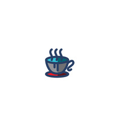 cup coffee icon winter template vector image