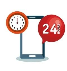 customer service call center design vector image