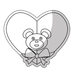 Cute bear icon vector