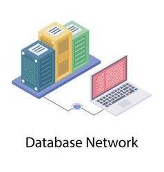 Database network technology vector