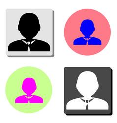 default avatar profile flat icon vector image
