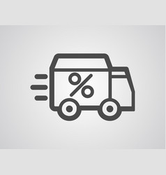 delivery icon sign symbol vector image