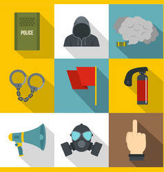 demonstration icon set flat style vector image
