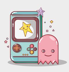 Digital videogame play game simulator vector