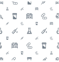 Drug icons pattern seamless white background vector