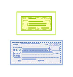empty financial paper fill information vector image