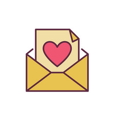 envelope and letter with heart creative vector image