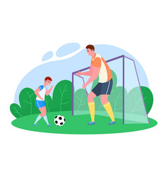 father time with son cartoon vector image