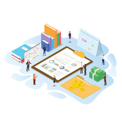 Financial administration concept with modern vector
