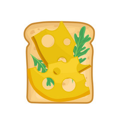 Flat icon of appetizing sandwich toasted vector