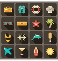 Flat icons set for Web and Mobile Applications vector