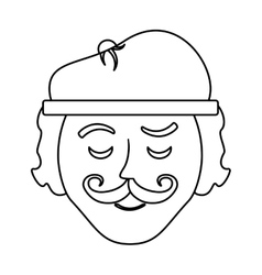 frenchman character cartoon vector image