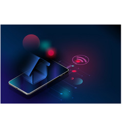 futuristic smart home technology controlling vector image
