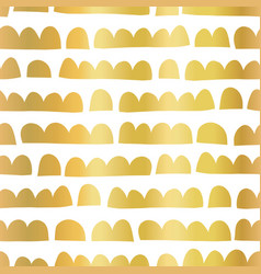 gold foil abstract doodle shapes horizontal vector image