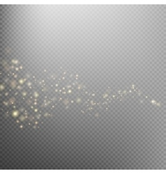 Gold glittering star dust trail EPS 10 vector image