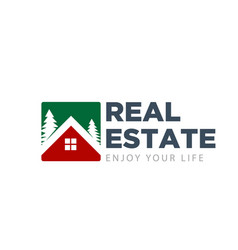green real estate logo designs simple modern vector image