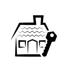 house home silhouette design vector image