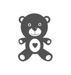 isolated teddy bear on a white background vector image