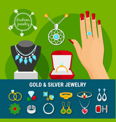 Jewelry icons collection vector