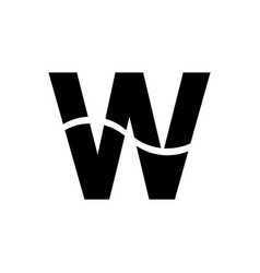 letter w logo icon vector image