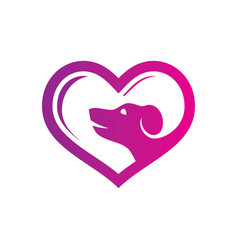 love pet shop logo vector image
