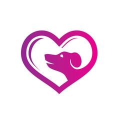love pet shop logo vector image