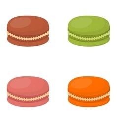 Macaroon cake vector