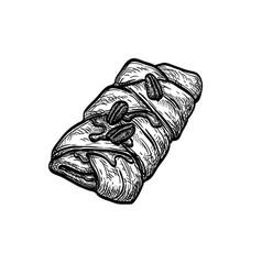Maple pecan plait vector