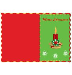 merry christmas congratulatory postcard vector image