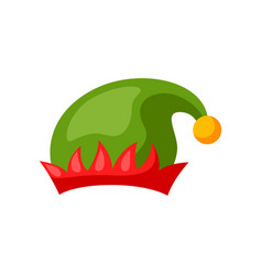 merry christmas hat elf vector image