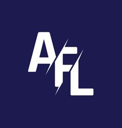 Monogram letters initial logo design afl vector