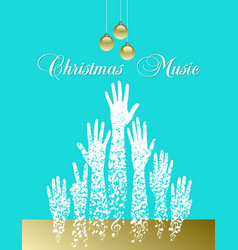 Musical theme christmas tree made of musical notes vector