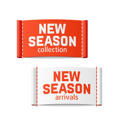 new season arrivals and collection labels vector image
