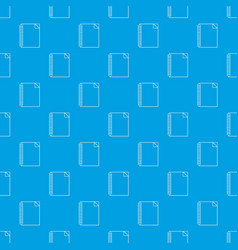 notebook pattern seamless blue vector image