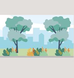 Outdoor view scene cartoon vector