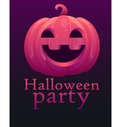 Poster Halloween party vector image