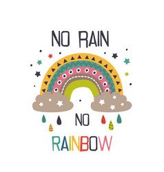 poster with funny rainbow vector image