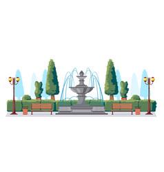 Public park scenery composition vector