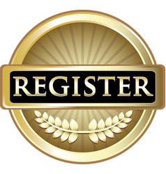 Register gold icon vector