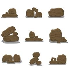 Rock stone cartoon vector