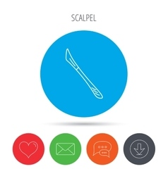 Scalpel icon Surgeon tool sign vector image