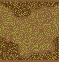 seamless african pattern sketch circular vector image